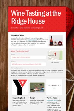 Wine Tasting at the Ridge House