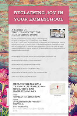 Reclaiming Joy in Your Homeschool