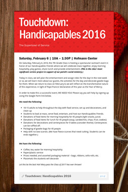 Touchdown: Handicapables 2016