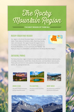 The Rocky Mountain Region