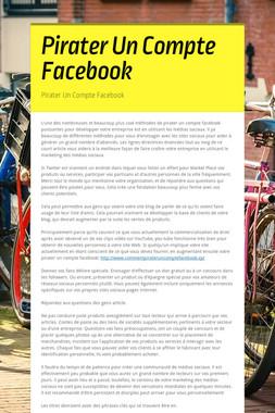 Pirater Un Compte Facebook