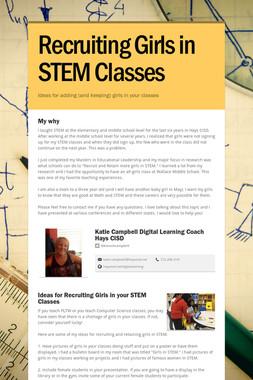 Recruiting Girls in STEM Classes