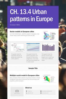 CH. 13.4 Urban patterns in Europe