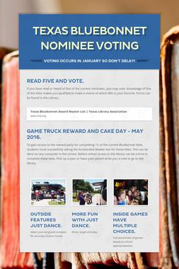 Texas Bluebonnet Nominee Voting