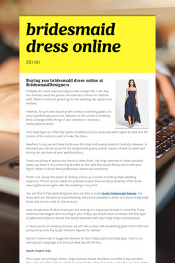 bridesmaid dress online
