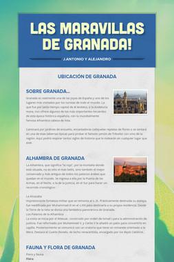 Las maravillas de Granada!
