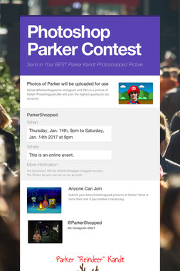 Photoshop Parker Contest