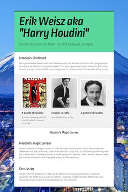 """Erik Weisz aka """"Harry Houdini"""""""