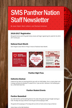 SMS Panther Nation Staff Newsletter