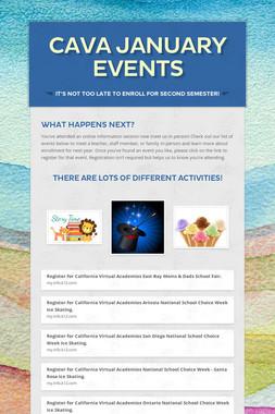 CAVA January Events