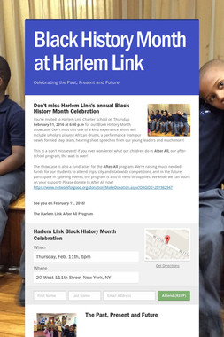 Black History Month at Harlem Link