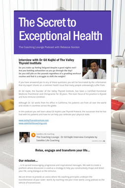 The Secret to Exceptional Health