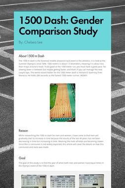 1500 Dash: Gender Comparison Study