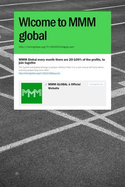 Wlcome to MMM global