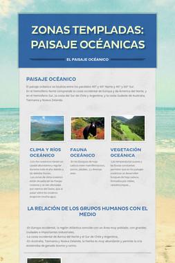 Zonas templadas: paisaje océanicas