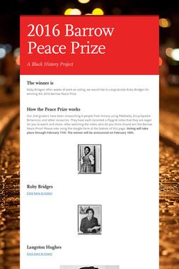 2016 Barrow Peace Prize