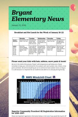 Bryant Elementary News