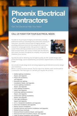 Phoenix Electrical Contractors