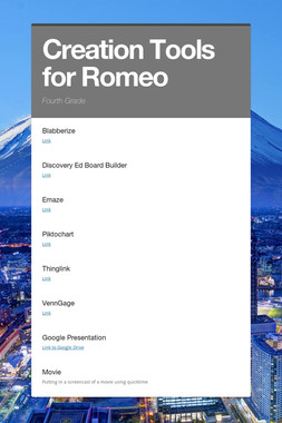 Creation Tools for Romeo