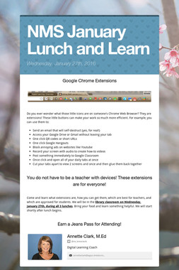 NMS January Lunch and Learn