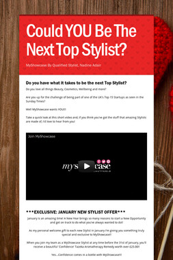 Could YOU Be The Next Top Stylist?