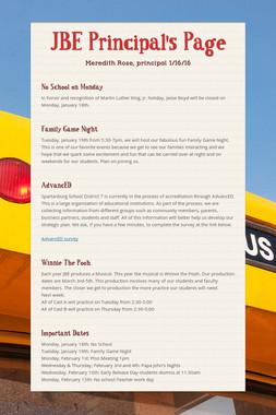 JBE Principal's Page