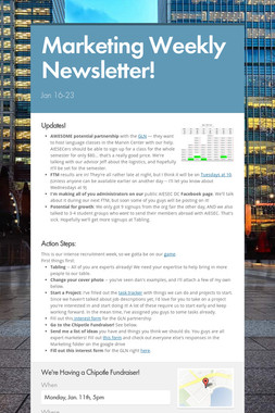 Marketing Weekly Newsletter!