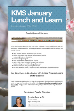 KMS January Lunch and Learn