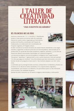 I TALLER DE CREATIVIDAD LITERARIA