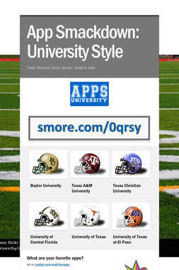 App Smackdown:     University Style