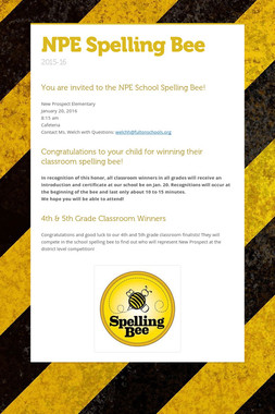 NPE Spelling Bee
