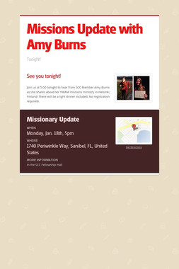 Missions Update with Amy Burns
