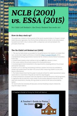 NCLB (2001) vs. ESSA (2015)