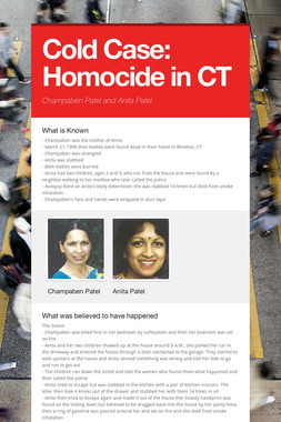 Cold Case: Homocide in CT