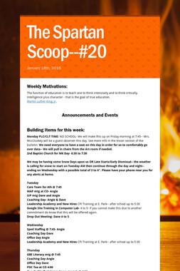 The Spartan Scoop--#20