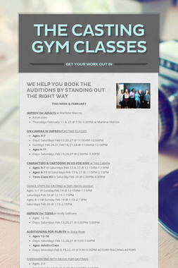 The Casting Gym Classes