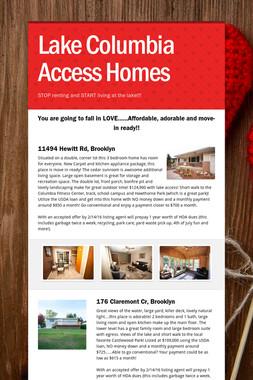 Lake Columbia Access Homes