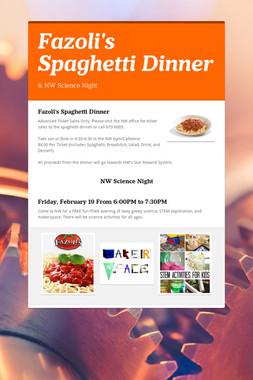 Fazoli's Spaghetti Dinner