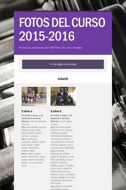FOTOS DEL CURSO 2015-2016