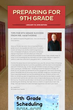Preparing for 9th Grade