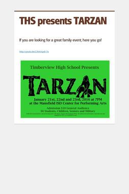 THS presents TARZAN