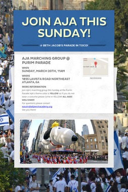 join AJA this sunday!