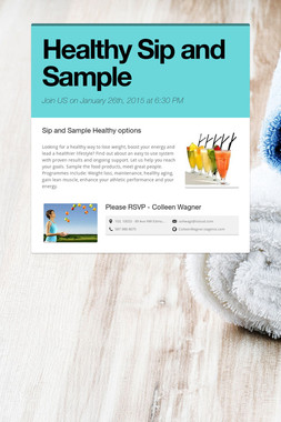 Healthy Sip and Sample