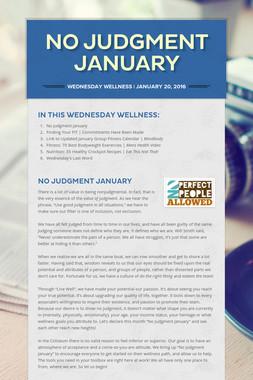 No Judgment January