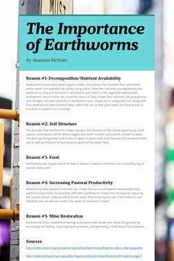 The Importance of Earthworms
