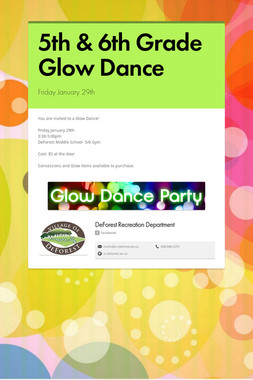 5th & 6th Grade Glow Dance