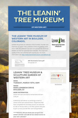 The Leanin' Tree Museum