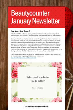 Beautycounter January Newsletter