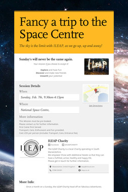 Fancy a trip to the Space Centre