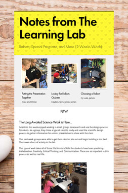 Notes from The Learning Lab
